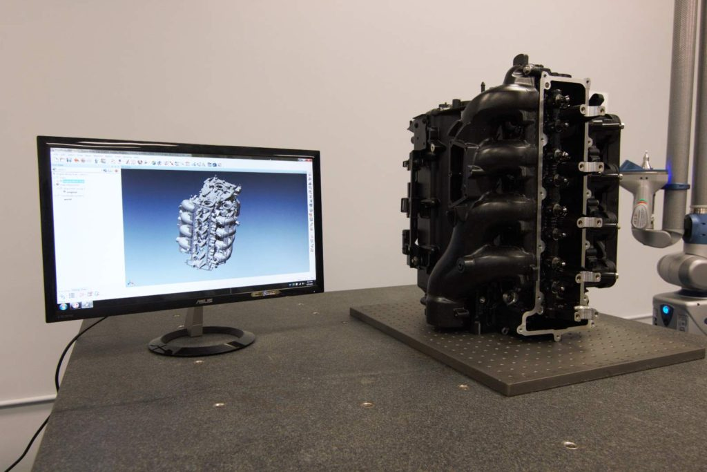 3D laser scanning and dimensional analysis of engine block