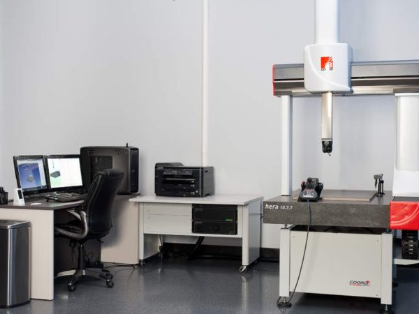 A Coord3 bridge CMM and workstation in the Carolina Metrology laboratory